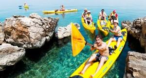 Croatia family sea kayaking holidays