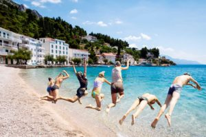 Family active vacation with water sports in Croatia