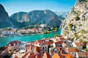 Omis town is very close to white water rafting
