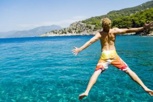 Swimming in Croatia as part of an amazing family adventure vacation