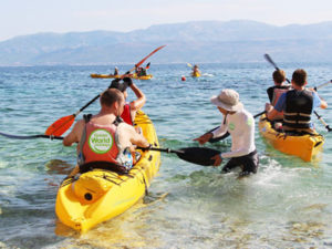 Sea kayaking on Brac island