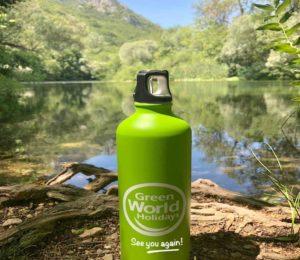 green refill bottle