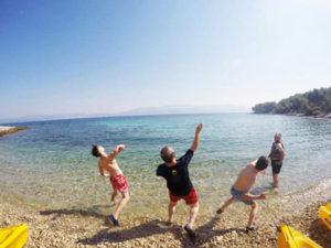 Teenager parent active holidays in Croatia