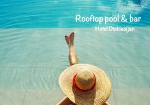 hotel dioklecijan rooftop pool and bar
