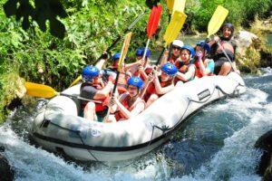 white water rafting family tours in Croatia