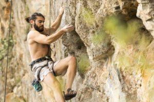 Rock climbing on Brac island as part of the adventure week