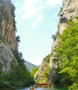 October rafting in the Cetina canyon
