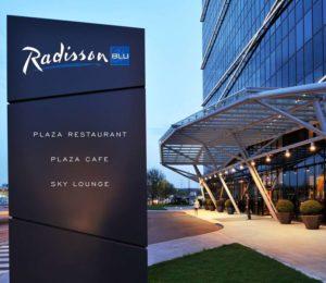 Outside Radisson Blu