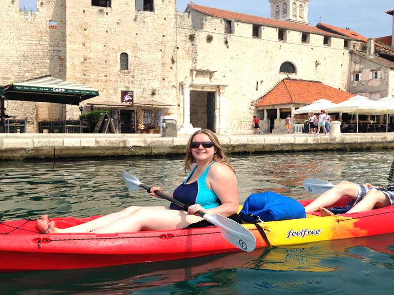 Sea kayaking Trogir in Croatia