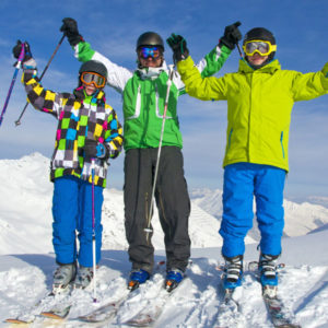 Ski holiday for families in the February half term time