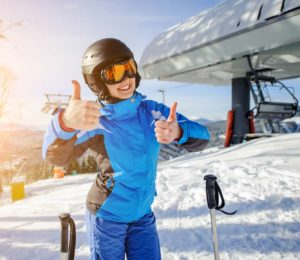 Teenager ski holiday with parents