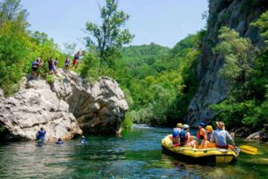 Cetina river rafting tours for families