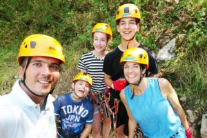 Zip. lining in Omis, as part of a multi active family week