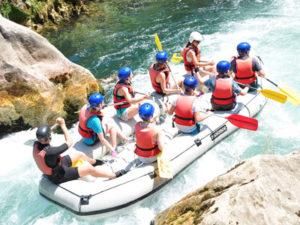 White water rafting in Croatia