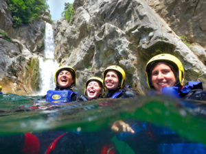 Croatia canyoning for families