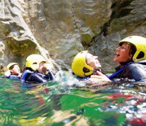 family canyoning in Croatia