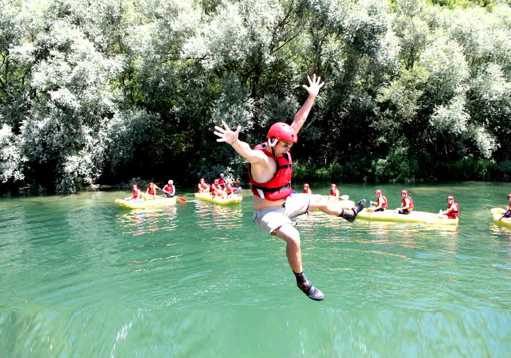 Water sports family active holiday in Croatia