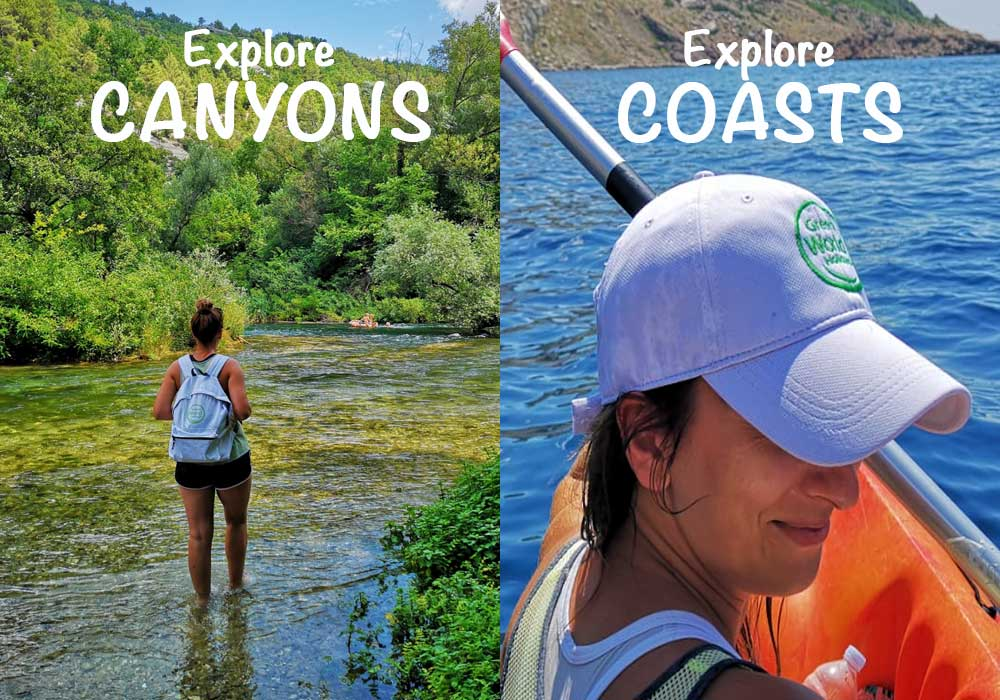 Canyoning and kayaking family tours