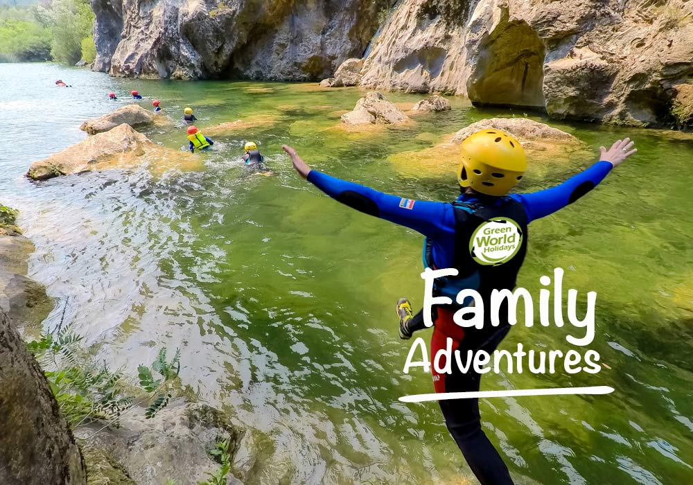 family active vacation in Croatia. Trying land and water sports. kids and teenagers welcome.