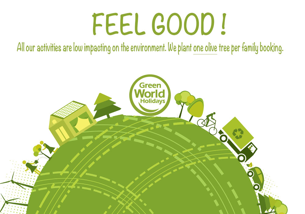 Family active holidays that are low impacting on the environment.