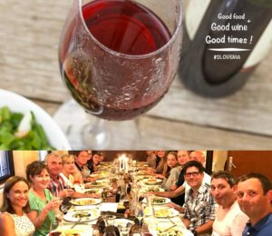 Gala meals with family holiday tours of Slovenia