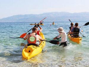 sea kayaking family holidays Croatia