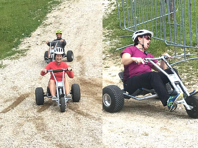 Monster karts on Krvavec