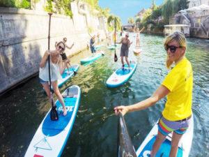 Stand up paddle boarding Ljubljana tours