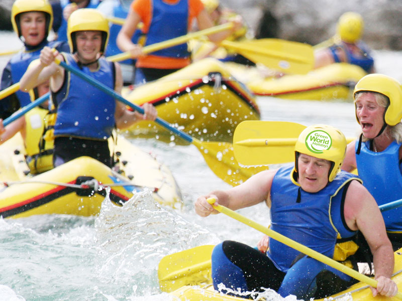 white water rafting families in Europe on active vacations in Croatia and Slovenia