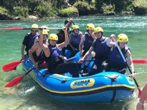 family rafting in Slovenia