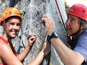 Rock climb tour on Brac adventure week for families