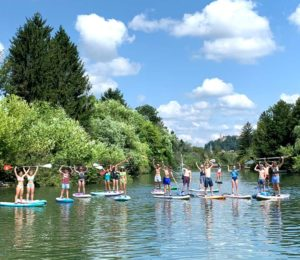 SUP tours in Slovenia for a family group
