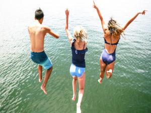 swim and jump