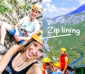 Zip line course in Croatia