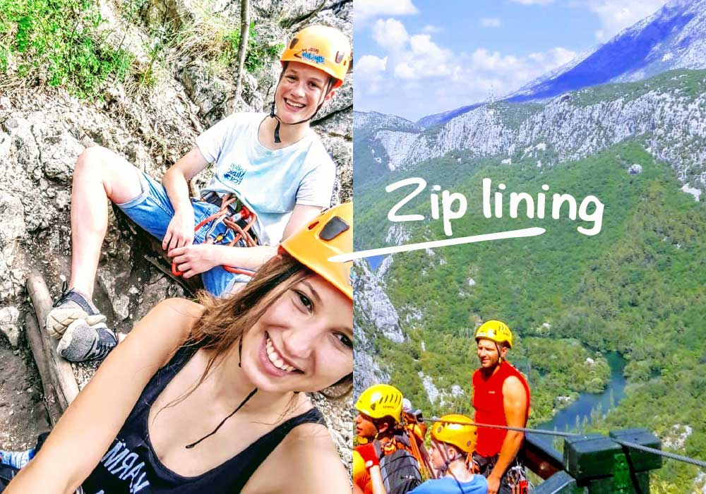 Zip line tour experience in Croatia