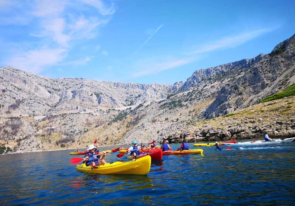 Sea kayaking around Kornati islands